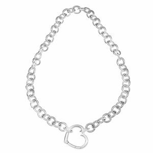 Tiffany & Co open heart clasp necklace